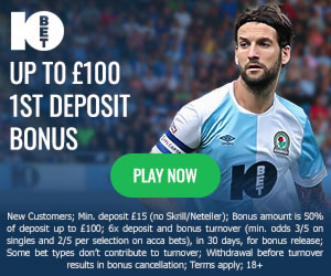10Bet free bet: 50% deposit bonus (up to £100)