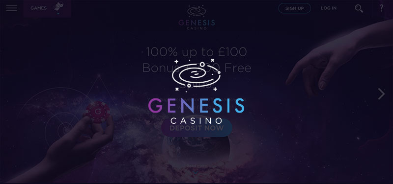 Genesis Casino: 100% bonus up to £100 + 300 Free Spins on Starburst