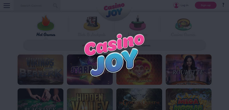 Casino Joy: 100% up to £200 bonus + 200 free spins - New UK Casino!
