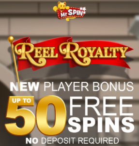 Mr Spin Casino: 50 free spins no deposit, no wagering