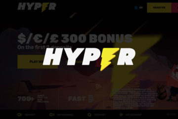 Hyper Casino sign up offer: £300 deposit bonus
