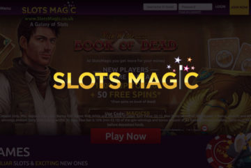 Slots Magic sign up offer: £50 deposit bonus + 50 free spins