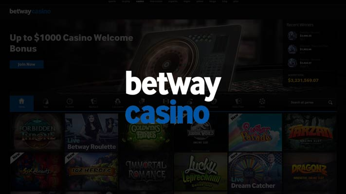 Betway Casino sign up offer: up to £1000 bonus
