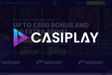 Casiplay Casino sign up offer: £800 bonus + 100 free spins