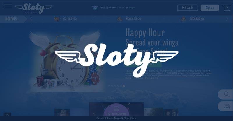 Sloty Casino: 300 free spins + 100% first deposit bonus