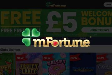 mFortune mobile casino sign up offer: free £5 no deposit bonus