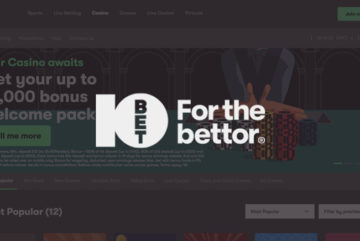 10Bet Casino: up to £1000 deposit bonus