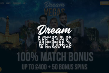 Dream Vegas Casino sign up offer: 120 free spins + £4900 bonus