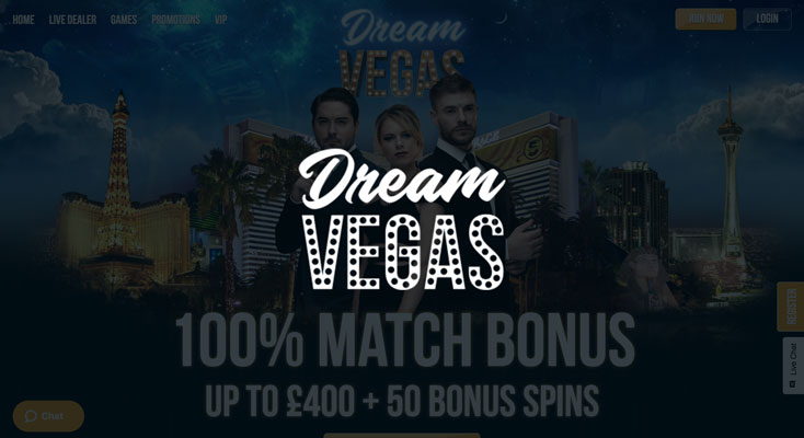 Dream Vegas Casino Sign Up Offer 120 Free Spins 4900 Bonus