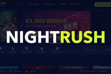NightRush Casino sign up offer: C$1000 deposit bonus